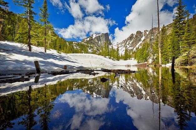 Tyndall creek in het rocky mountain national park