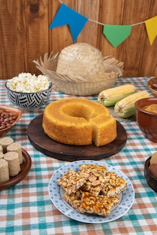 Typisch braziliaans juni-festivalvoedsel. festa junina.