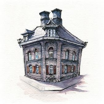 Typisch danich-huis, kopenhagen