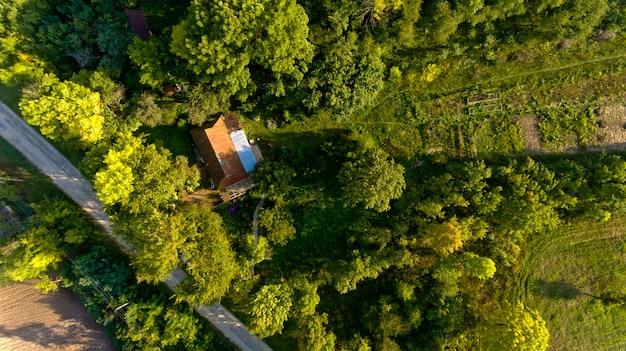Typisch europees dorp. bovenaanzicht