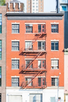 Typische brandtrap in gebouwen van new york