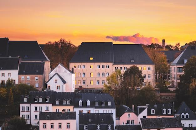 Typische daken in de stad luxemburg