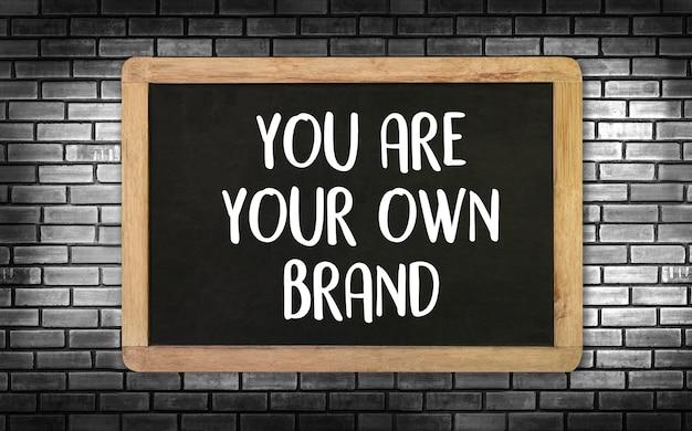 U bent uw eigen merk brand building-concept