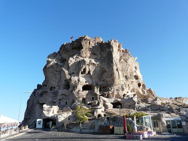 Uchisar cappadocia tufsteen nevehir woningen steen