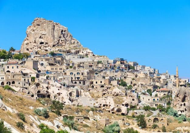 Uchisar nederzetting in cappadocië, nevsehir, turkije