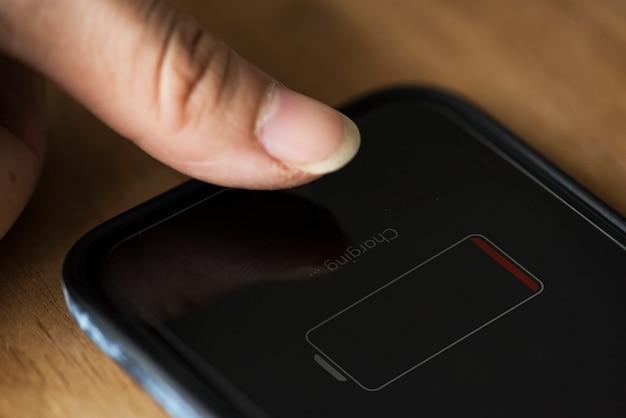 Uit batterij mobiele telefoon