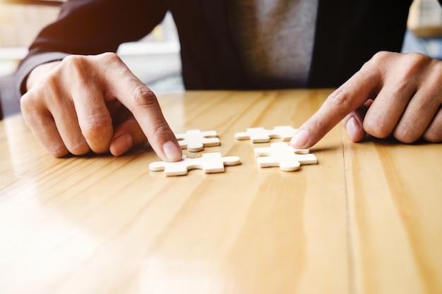 Uitdaging idee spel houten een bedrijf