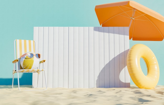 Uithangbord op het strand