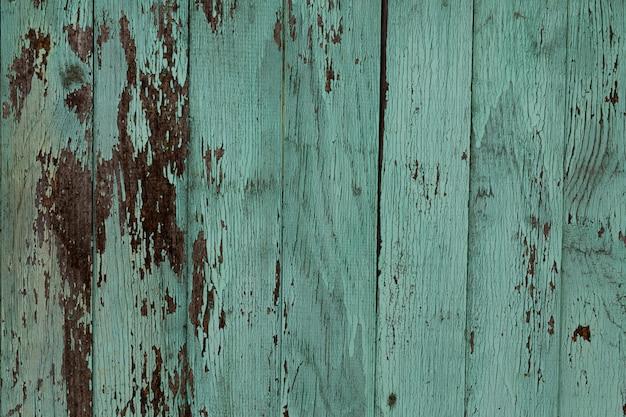 Uitstekende houten achtergrond met schilverf. oude houtstructuur.