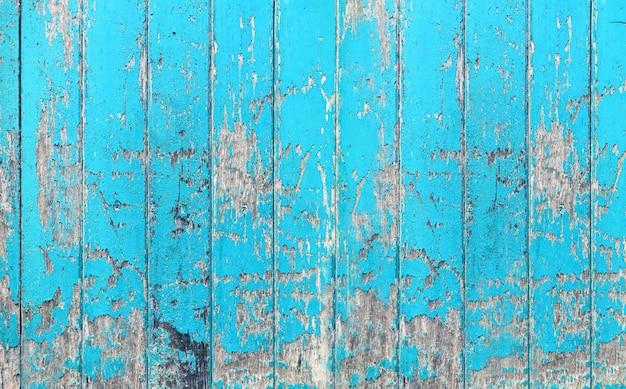 Uitstekende houten raad blauwe kleur geschilderde houten muur als achtergrond of textuur