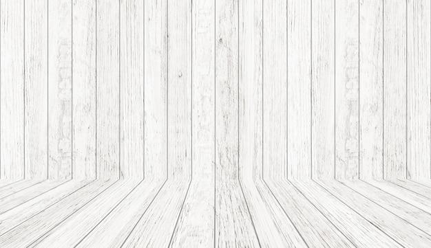 Uitstekende houten textuur in perspectiefmening voor achtergrond. lege houten kamer achtergrond.