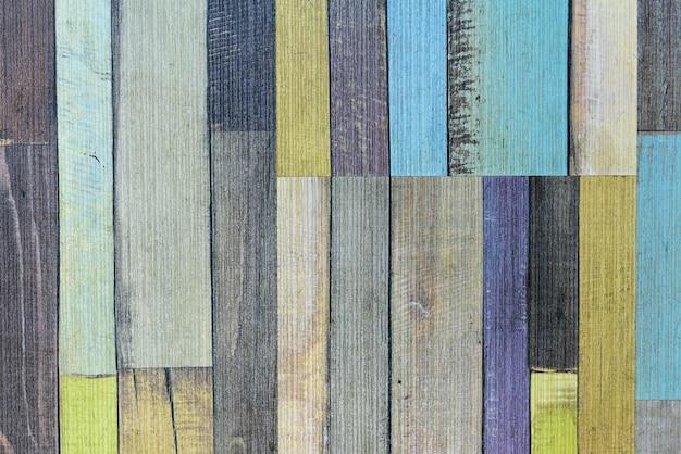 Uitstekende kleurrijke oude houten muurtextuur als achtergrond