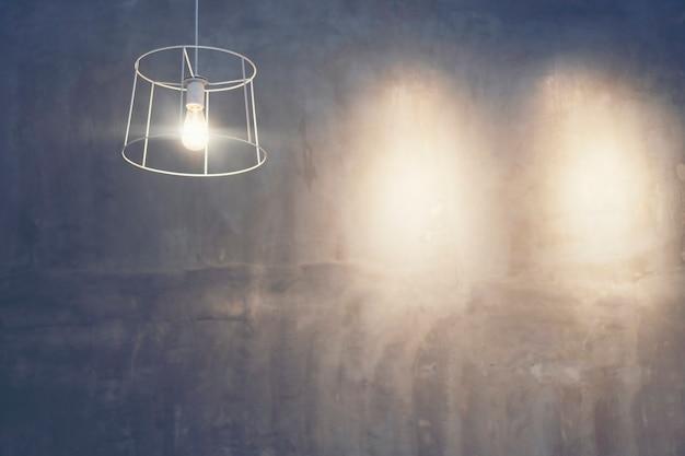 Uitstekende lamp op achtergrond