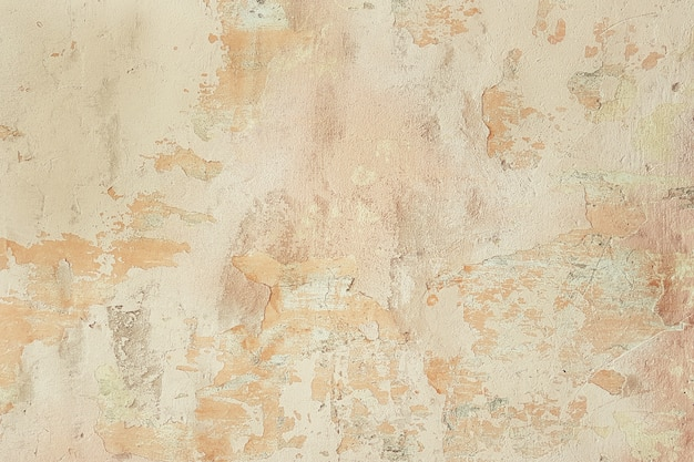 Uitstekende oude oppervlakte van oude muur met het vallen van pleister