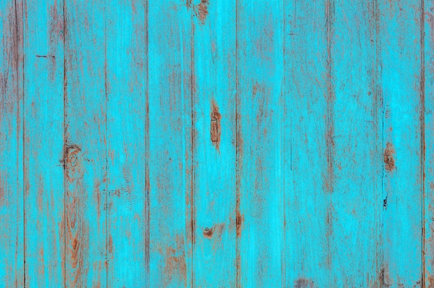 Uitstekende strand houten achtergrond - oude doorstane houten plank die in turkooise blauwe pastelkleur wordt geschilderd.