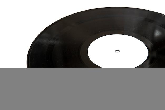 Uitstekende vinylschijf die op witte achtergrond wordt geïsoleerd