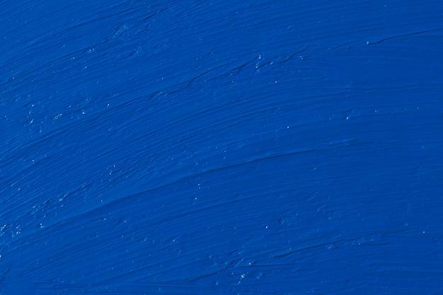 Uitstrijkjes van olieverf. kleur van het jaar 2020 - classic blue. kleur trendpalet.