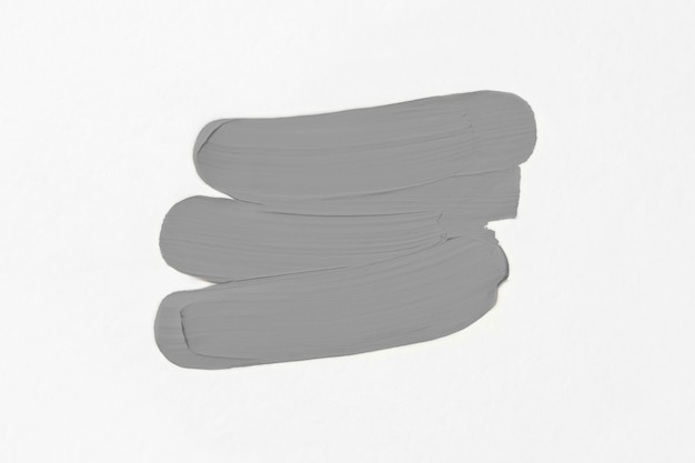 Uitstrijkjes van olieverf. kleur van het jaar 2021 - ultimate grey.