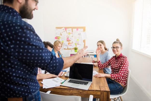 Uitvoerend voorstellende strategie van werk