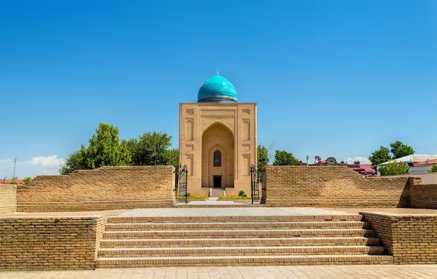 Uitzicht op bibi khanym mausoleumin in samarkand, oezbekistan