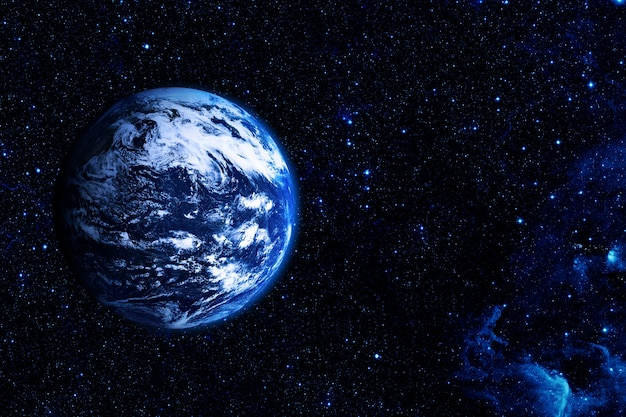 Uitzicht op de aarde vanaf de maan elementen van deze afbeelding geleverd door nasa