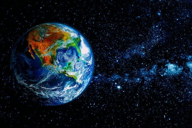 Uitzicht op de aarde vanaf de maan.