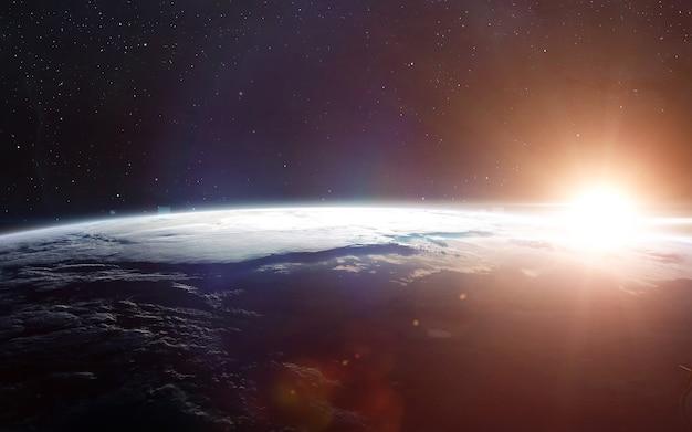 Uitzicht op de aarde vanuit de ruimte.
