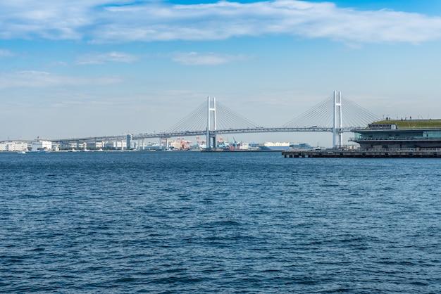 Uitzicht op de baai van yokohama