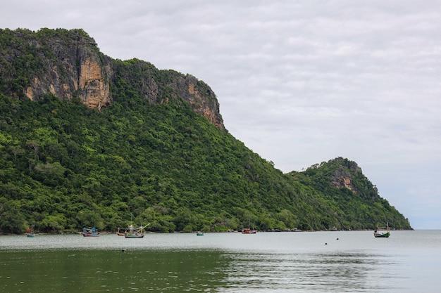 Uitzicht op de berg en het natuurpark in thailand