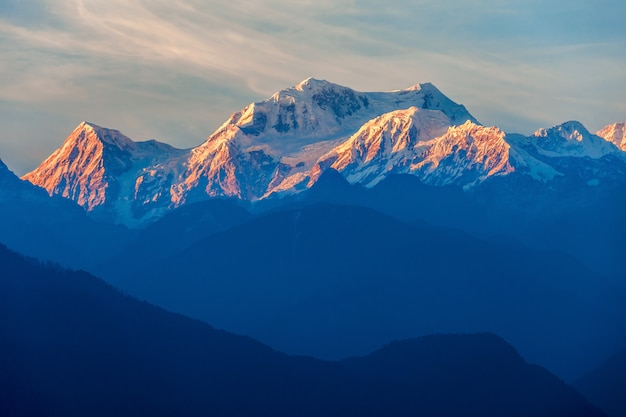 Uitzicht op de berg kangchenjunga