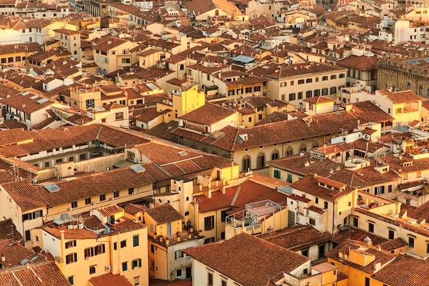 Uitzicht op de daken van florence