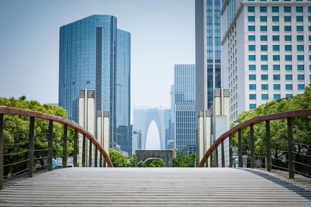 Uitzicht op de financiële stad