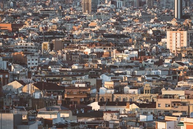 Uitzicht op de gebouwen van de stad barcelona