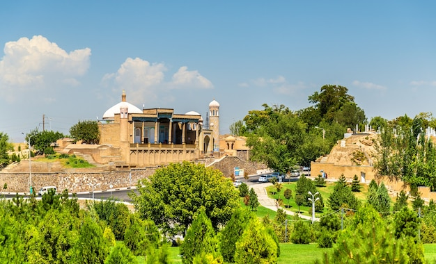 Uitzicht op de hazrat khizr-moskee in samarkand, oezbekistan