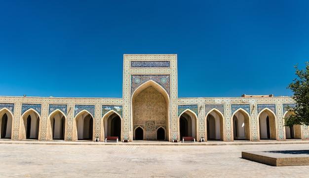Uitzicht op de kalyan-moskee in bukhara, oezbekistan. centraal-azië