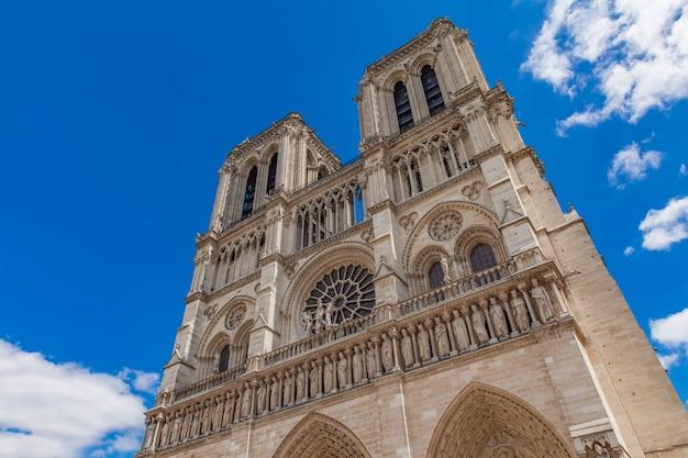 Uitzicht op de kathedraal notre dame de paris