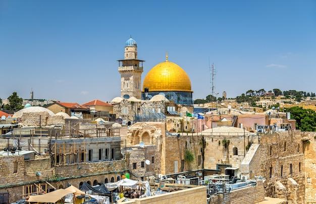 Uitzicht op de koepel van de rots in jeruzalem - israël