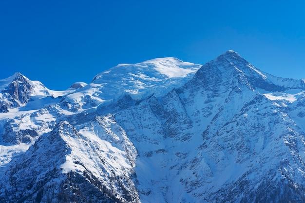 Uitzicht op de mont-blanc van chamonix, frankrijk