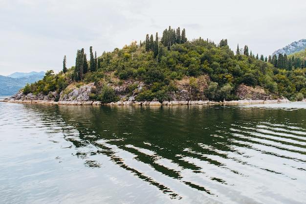 Uitzicht op de natuur van lake skadar in montenegro.