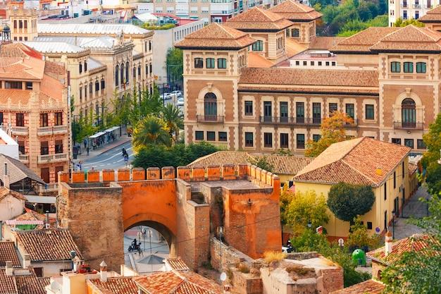 Uitzicht op de oude stad, granada, andalusië, spanje