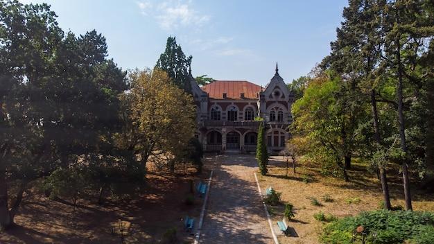 Uitzicht op de pommer mansion van bovenaf