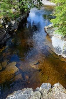 Uitzicht op de rivier de tay in schotland