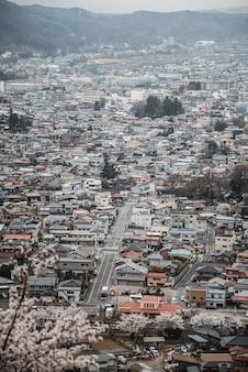 Uitzicht op de skyline van de stad overdag