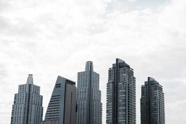 Uitzicht op de skyline van moderne gebouwen