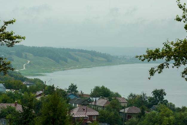 Uitzicht op de stad kasimov, rusland