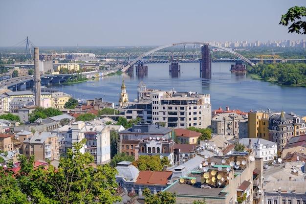 Uitzicht op de stad landschap van kiev