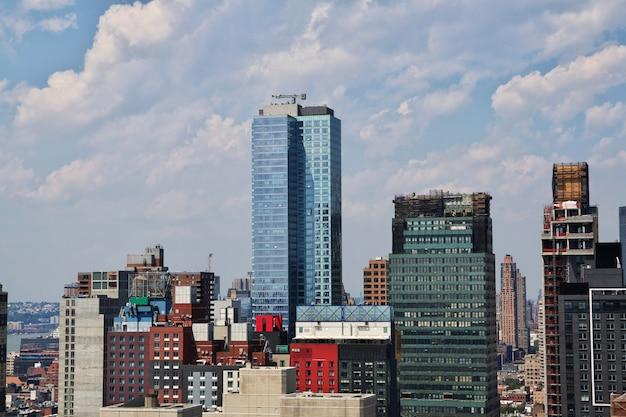 Uitzicht op de stad new york van verenigde staten
