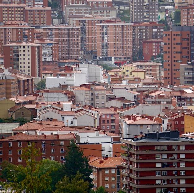 Uitzicht op de stad van bilbao spanje, bilbao architectuur