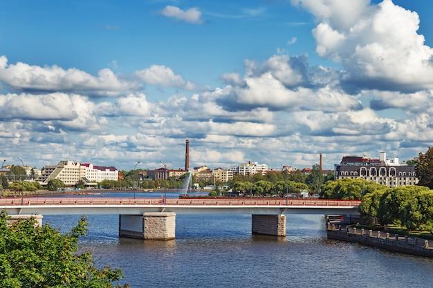 Uitzicht op de stad van vyborg, rusland, leningrad oblast.