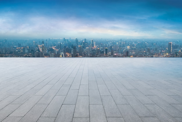 Uitzicht op de stad vanaf het terras